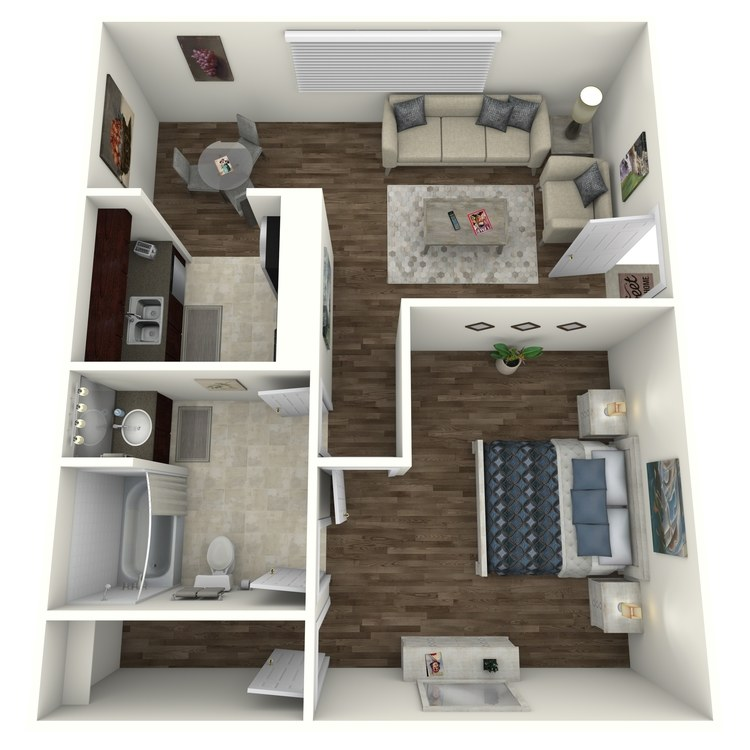 Oak floor plan image