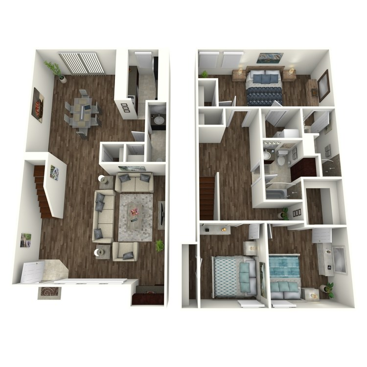 Juniper Townhouse floor plan image