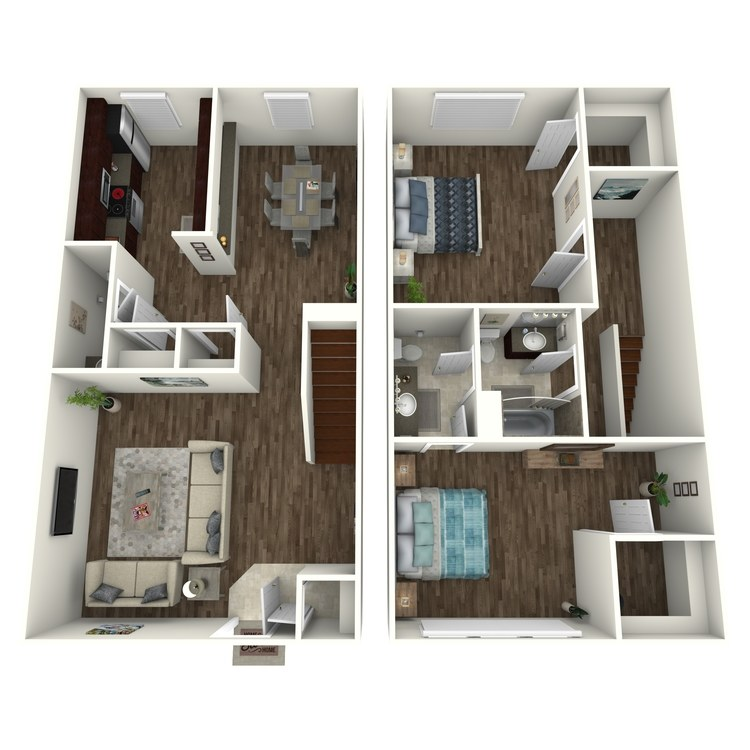 Willow Townhouse floor plan image