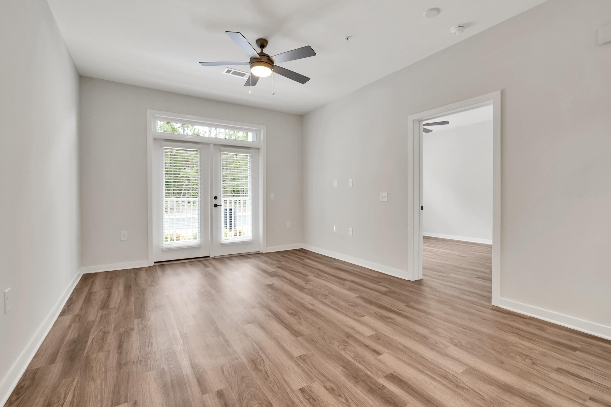 a view of a hard wood floor