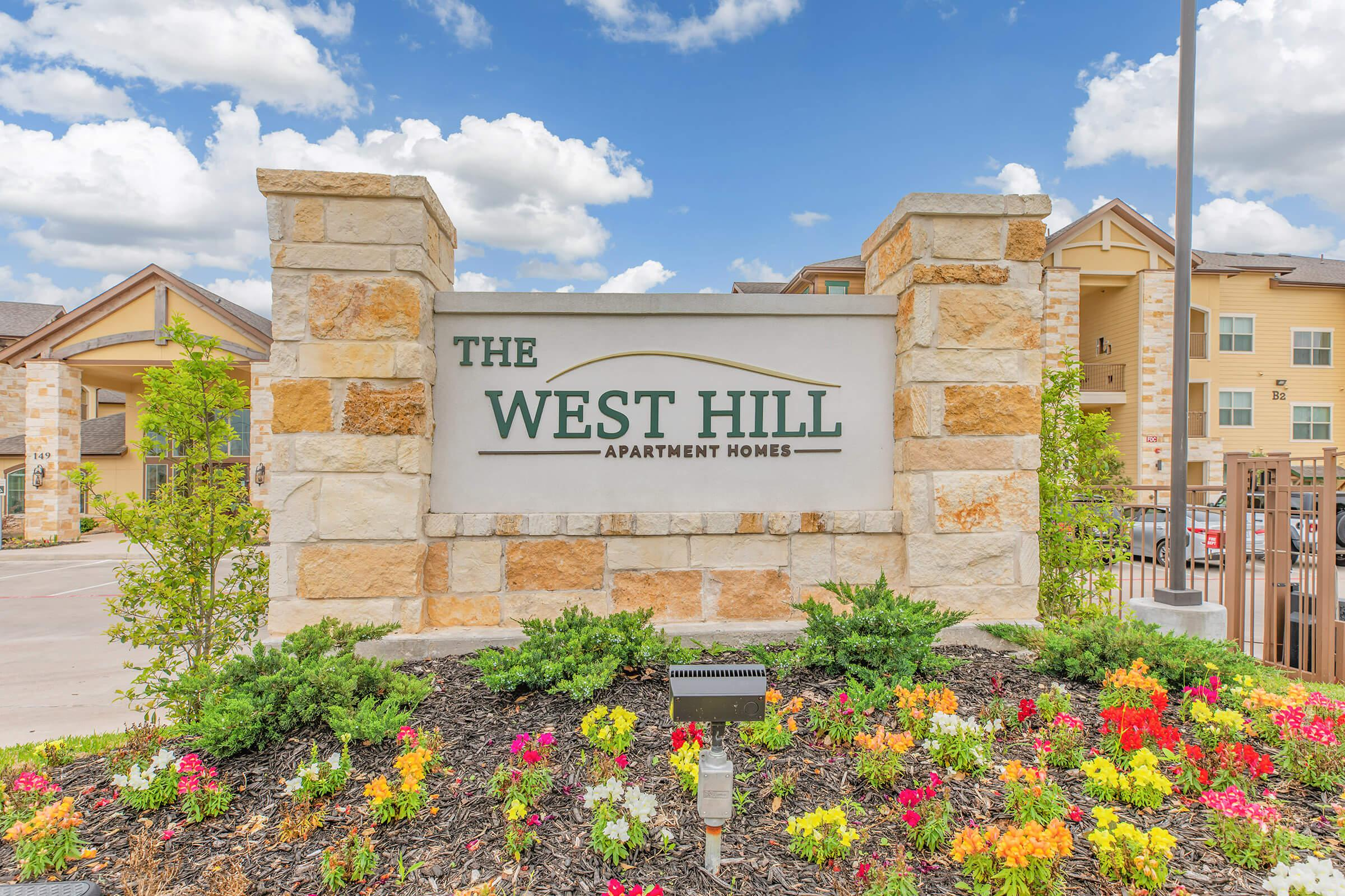 WE'LL SEE YOU SOON AT THE WEST HILL APARTMENTS IN HUNTSVILLE, TX