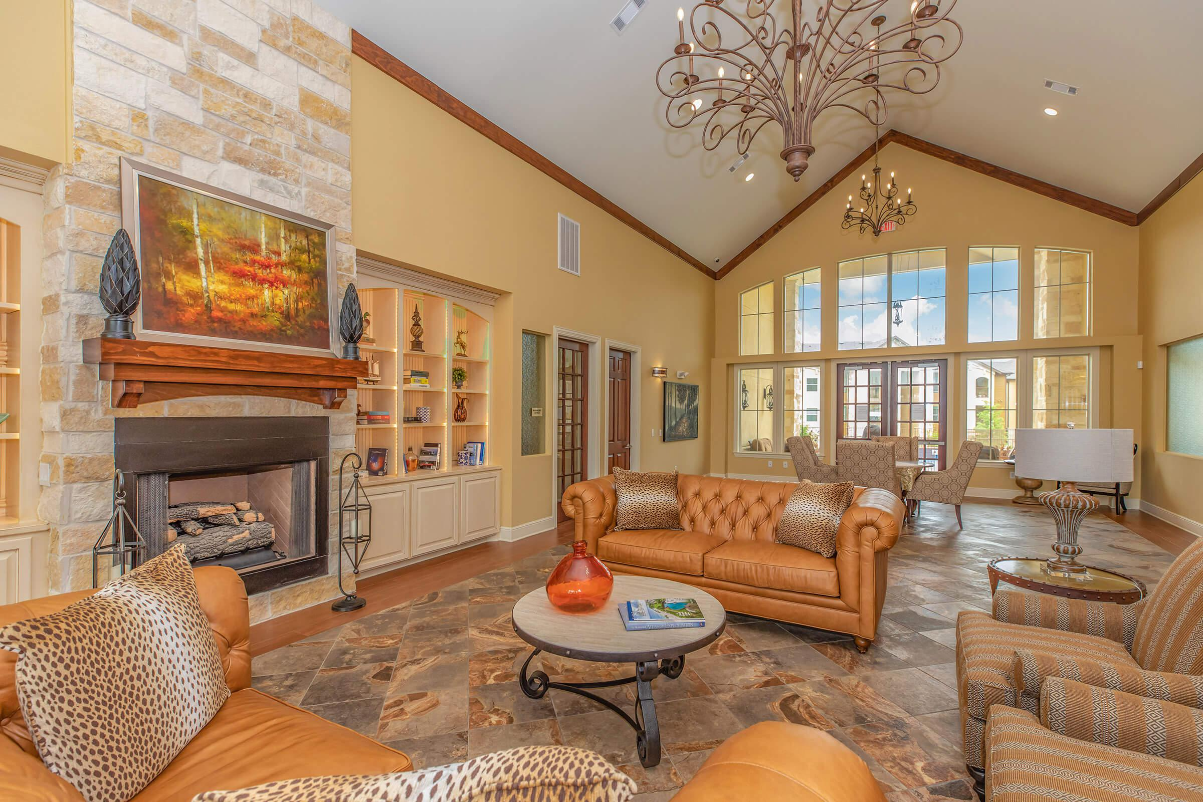 AN ELEGANT CLUBHOUSE WITH GRAND FOYER