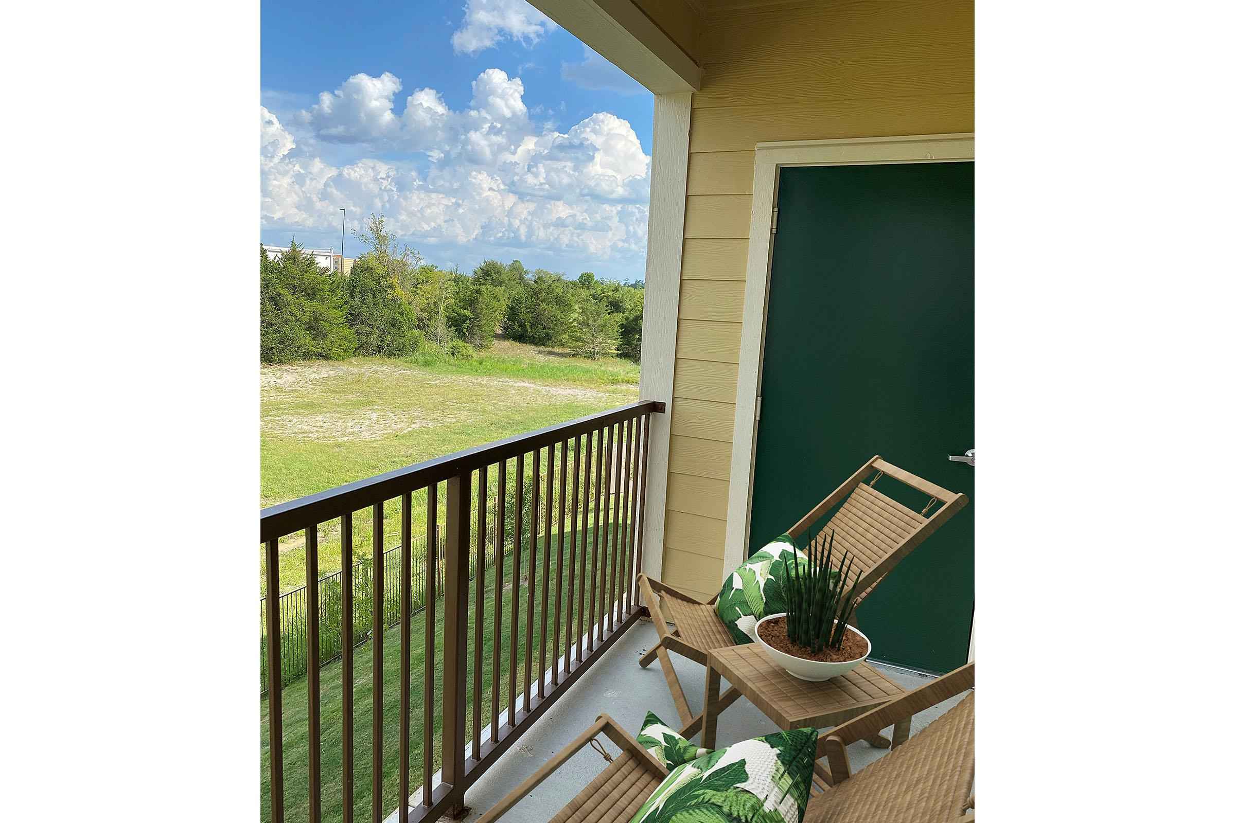 ENJOY THE VIEWS FROM YOUR PERSONAL BALCONY OR PATIO