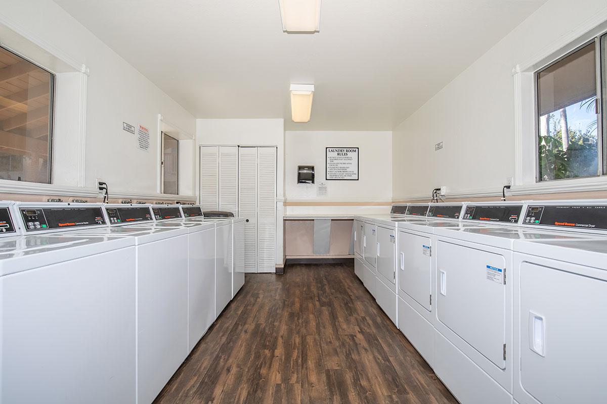 Washers and dryers in the community laundry room