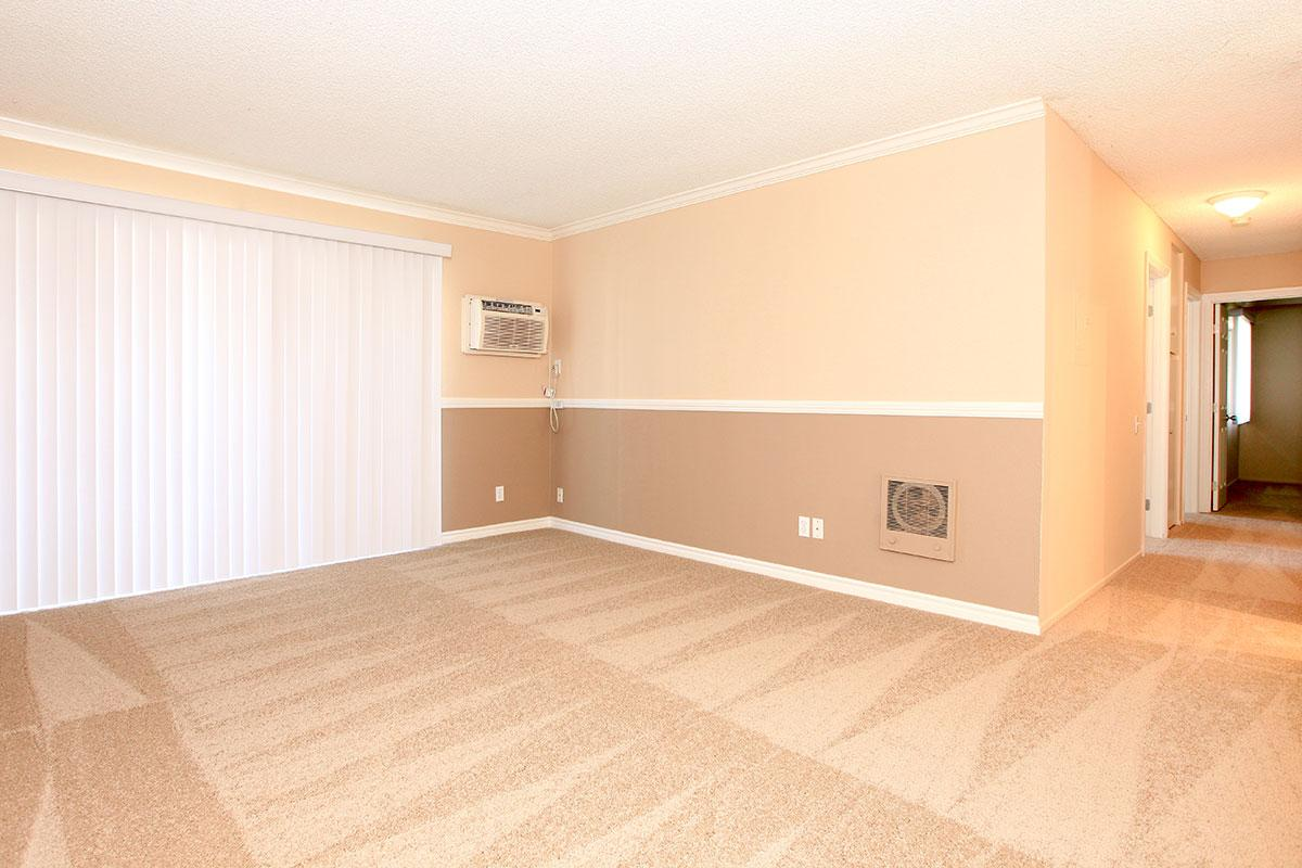 Vacant living room with AC unit