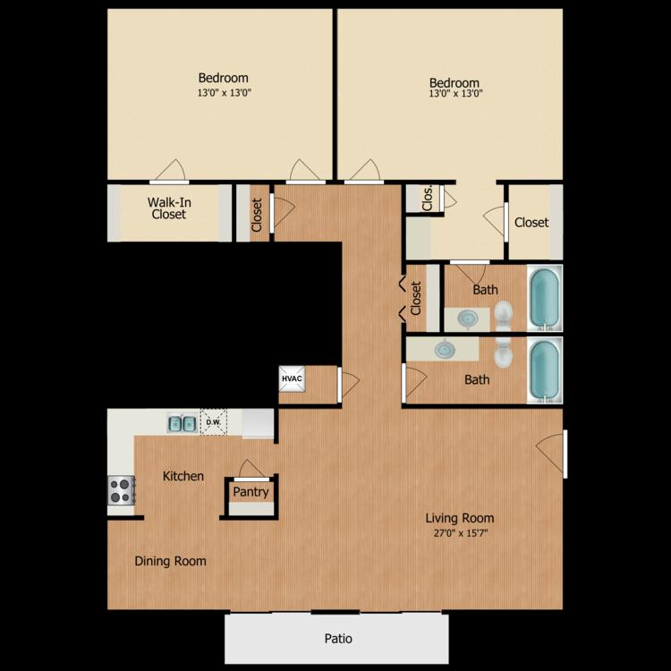 Floor plan image of DD