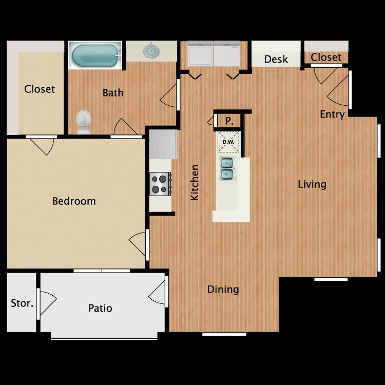 Floor plan image of A1-HC