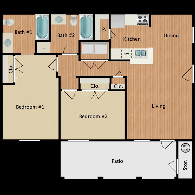 Floor plan image of B2-HC