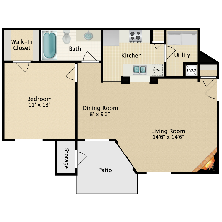 Floor plan image of Cutter