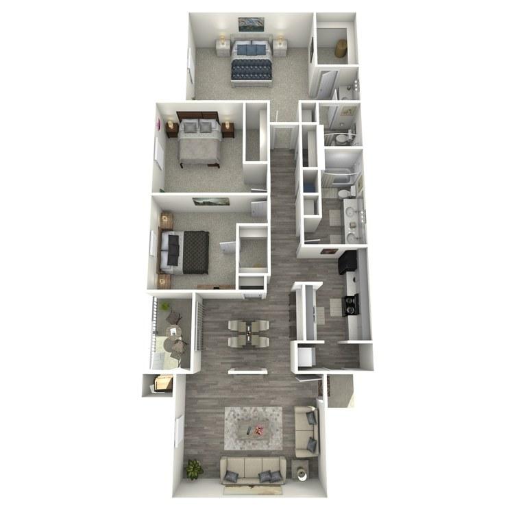 Floor plan image of La Rivera