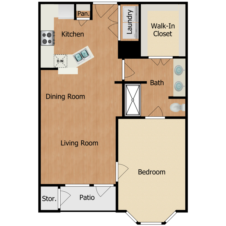 Floor plan image of Residence B1