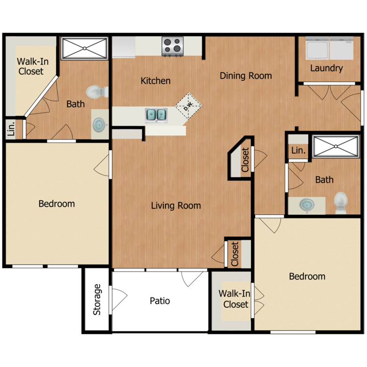 Floor plan image of Residence D2