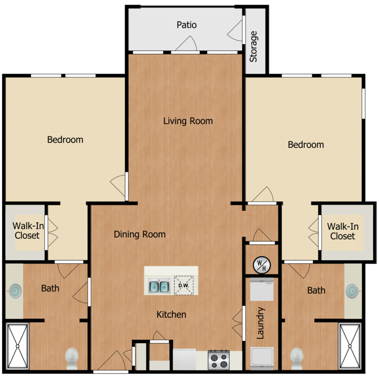 Floor plan image of Residence F2