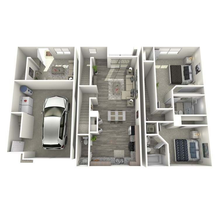 Floor plan image of Emerald Townhome