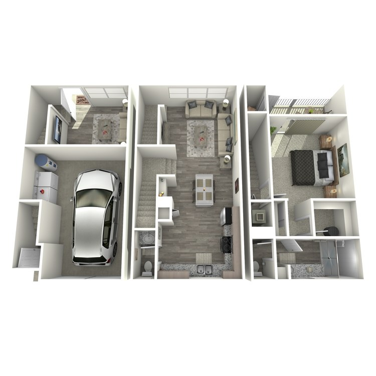 Floor plan image of Sapphire Townhome