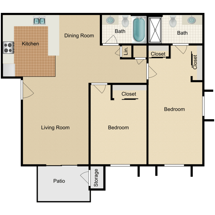 Floor plan image of Plan Two Upgraded