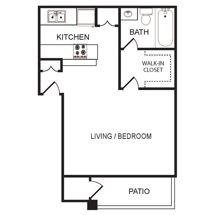 Floor plan image of Large Studio