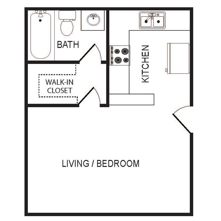 Floor plan image of Medium Studio