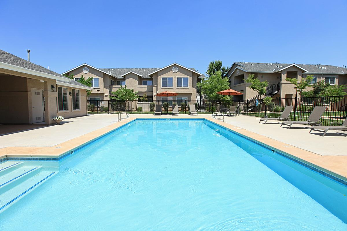 a house with a pool of water