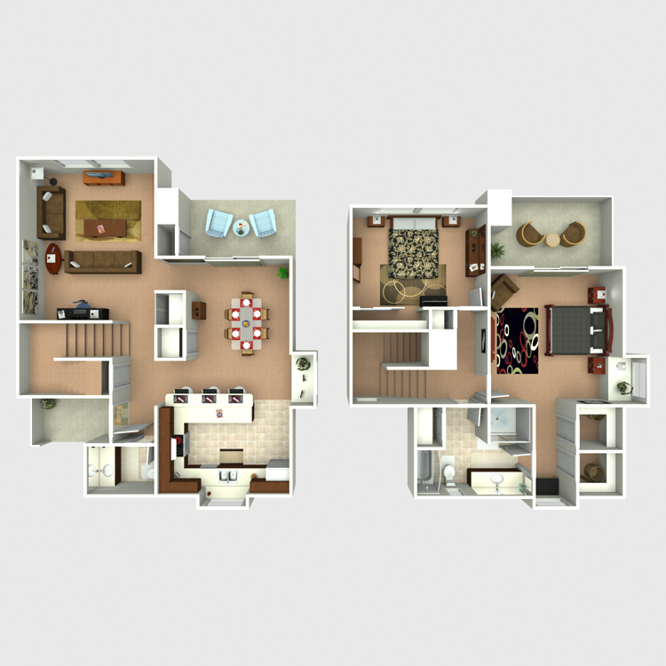 Floor plan image of Yellowstone Townhome