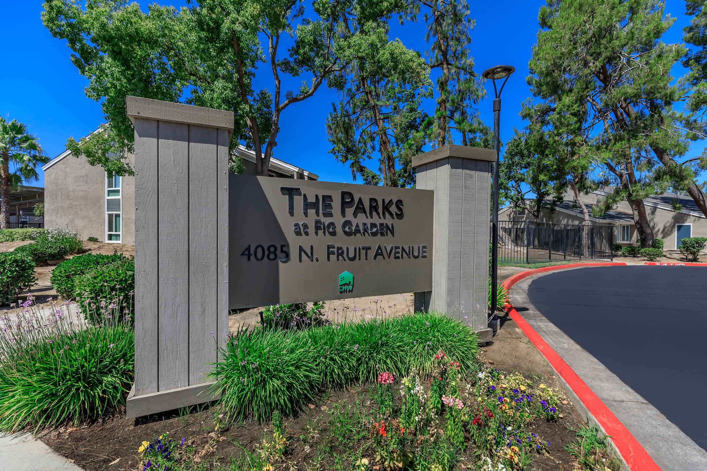 The Parks at Fig Garden monument sign