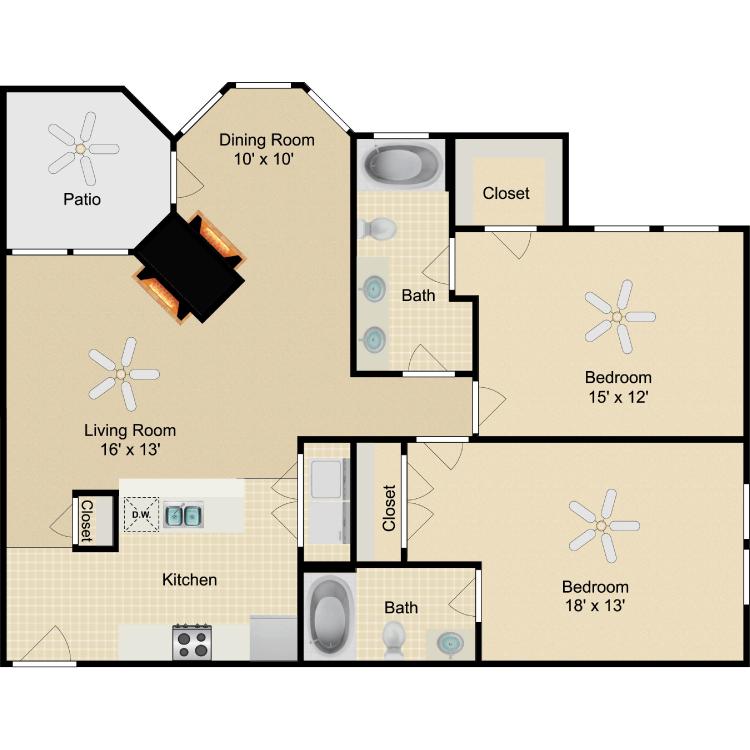 Floor plan image of Fitzgerald