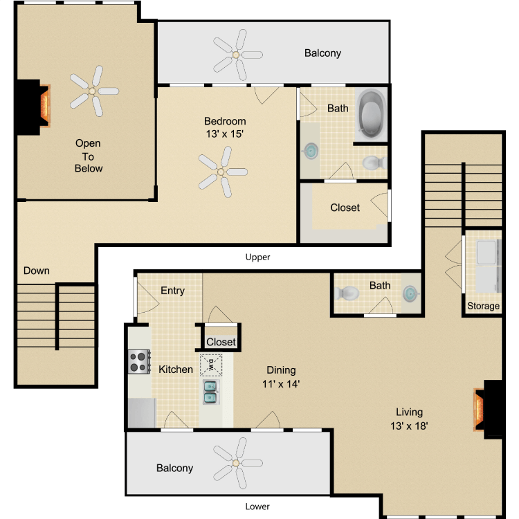 Floor plan image of Bogart