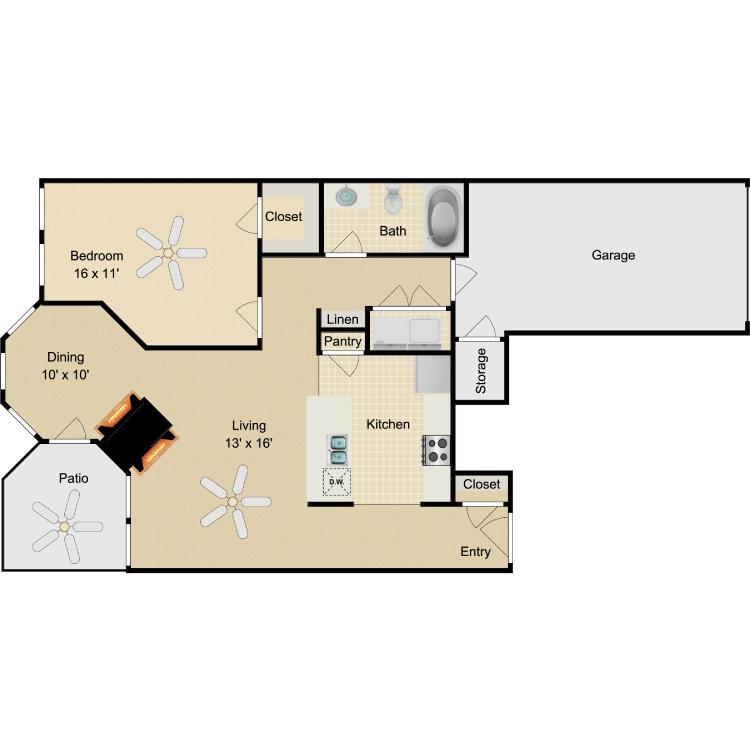 Floor plan image of Chaplin