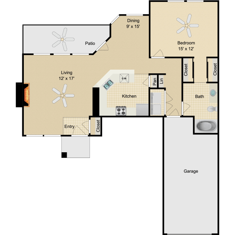 Floor plan image of Harlow