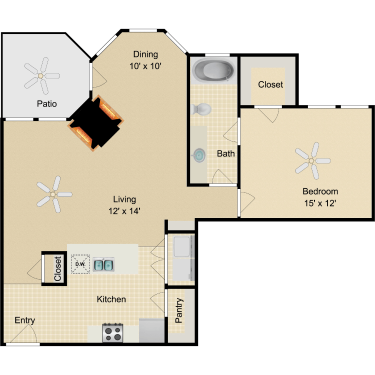 Floor plan image of Swanson