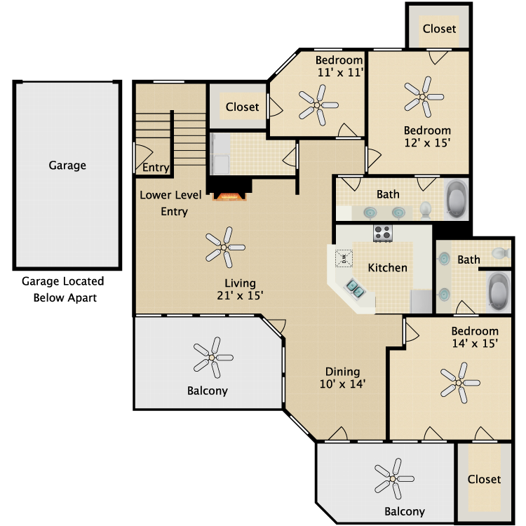 Floor plan image of Capone