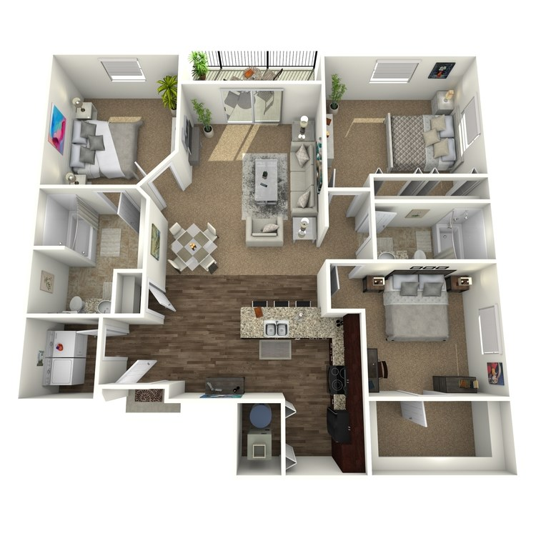 Floor plan image of The Solano w/ Semi Attached Garage