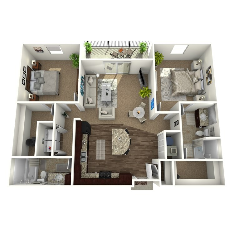 Floor plan image of The Sonoma w/ Detached Garage