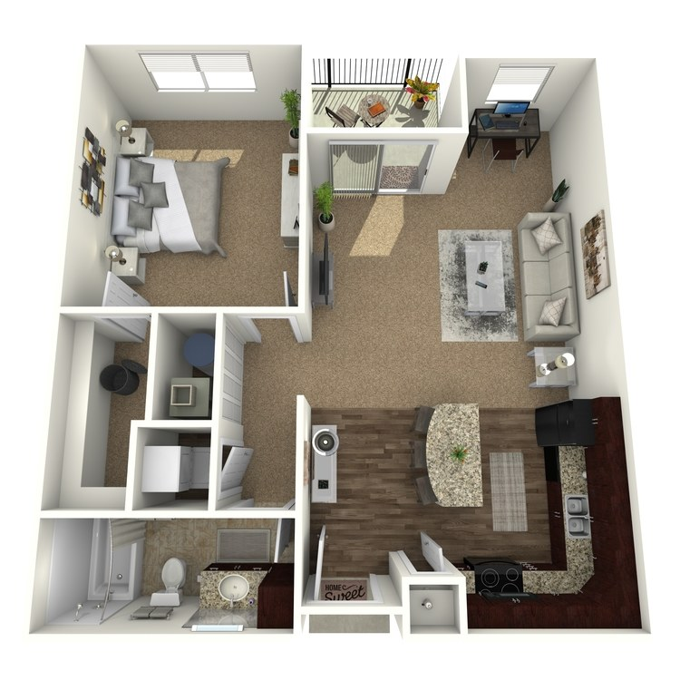 Floor plan image of The Napa w/ Semi-Attached Garage