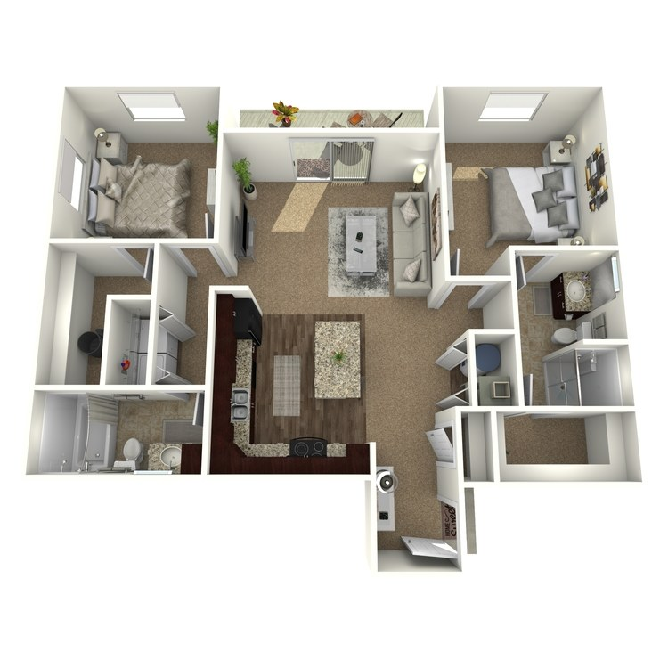 Floor plan image of The Sierra w/ Semi-Attached Garage