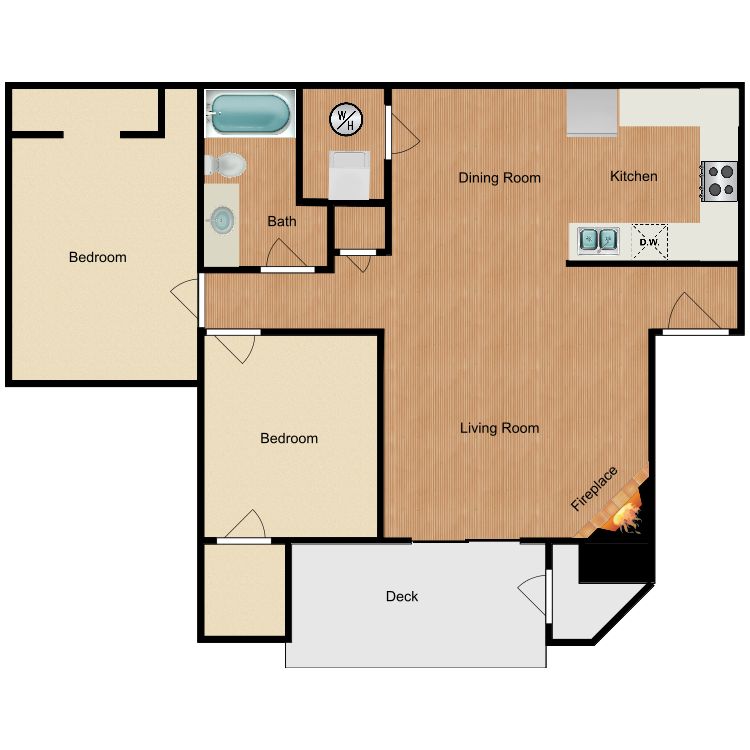 2x1 floor plan image