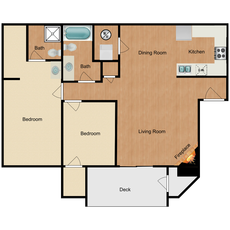 2x2 floor plan image