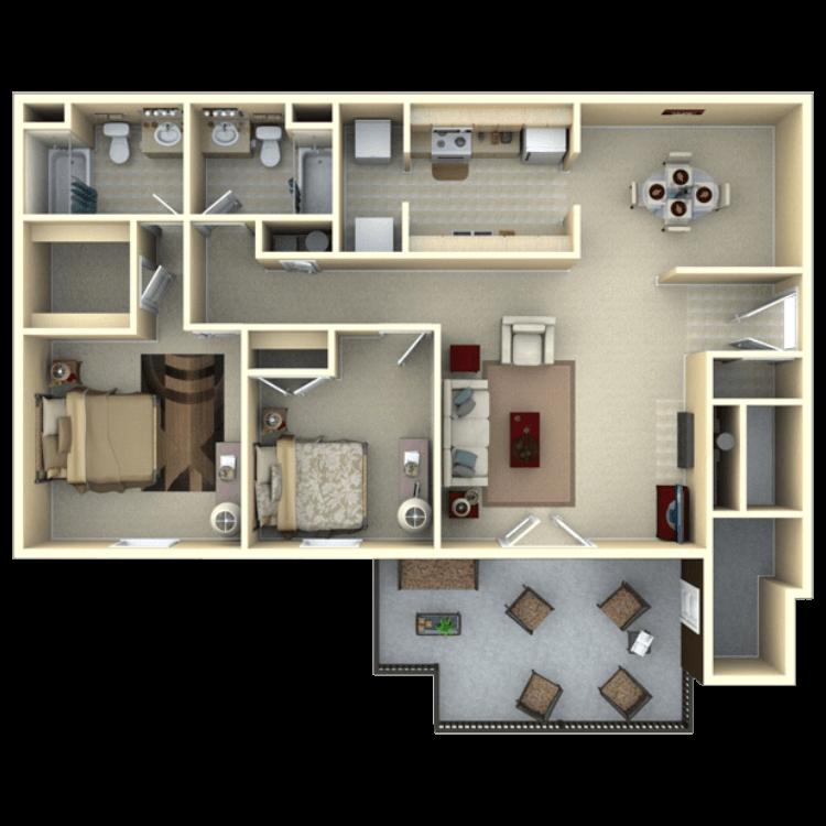 Floor plan image of Laurel Oak