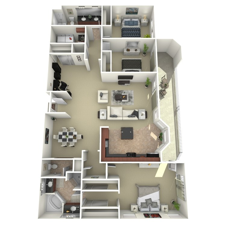 Floor plan image of 3x2