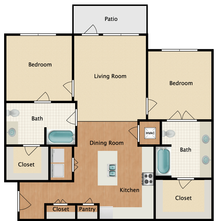 Floor plan image of 2B