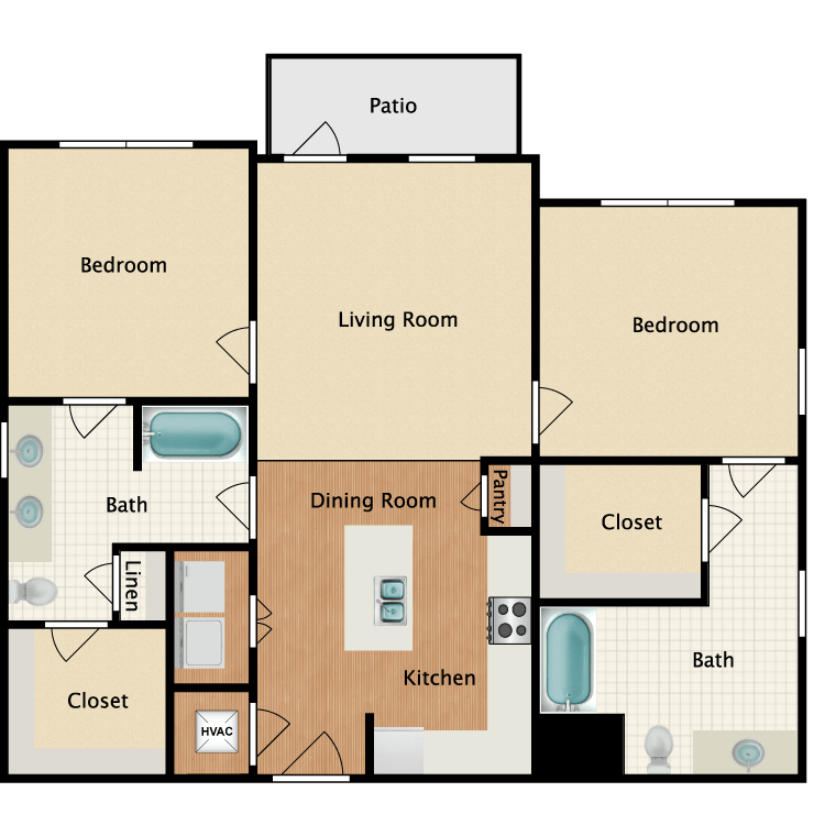 Floor plan image of 2C