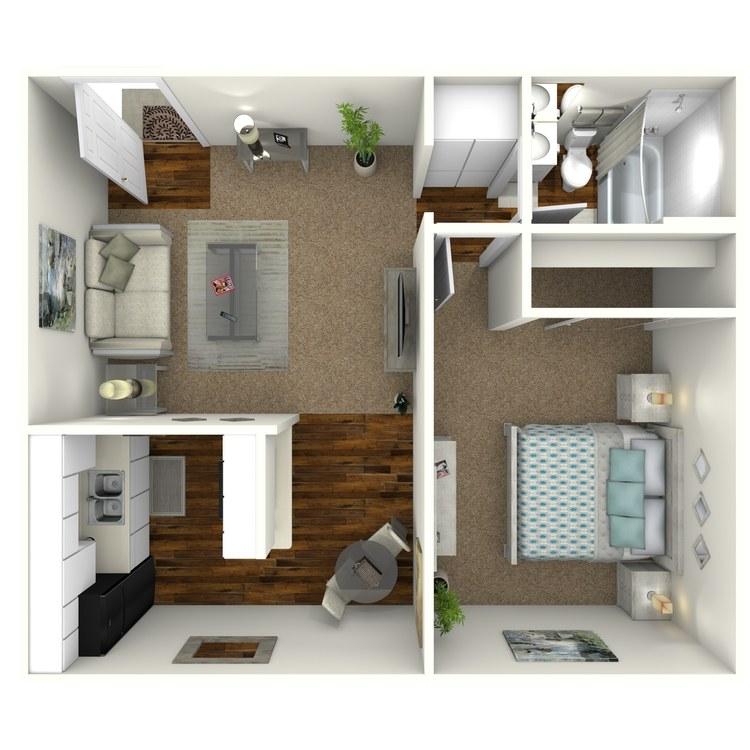 Floor plan image of 255 One Bedroom