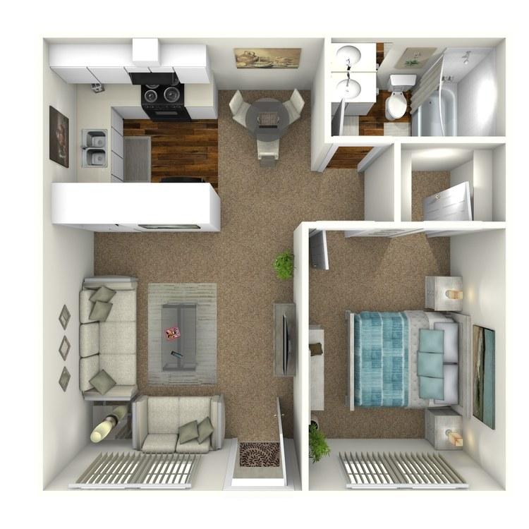 Floor plan image of 245 One Bedroom