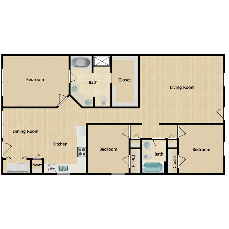 Floor plan image of Bennett