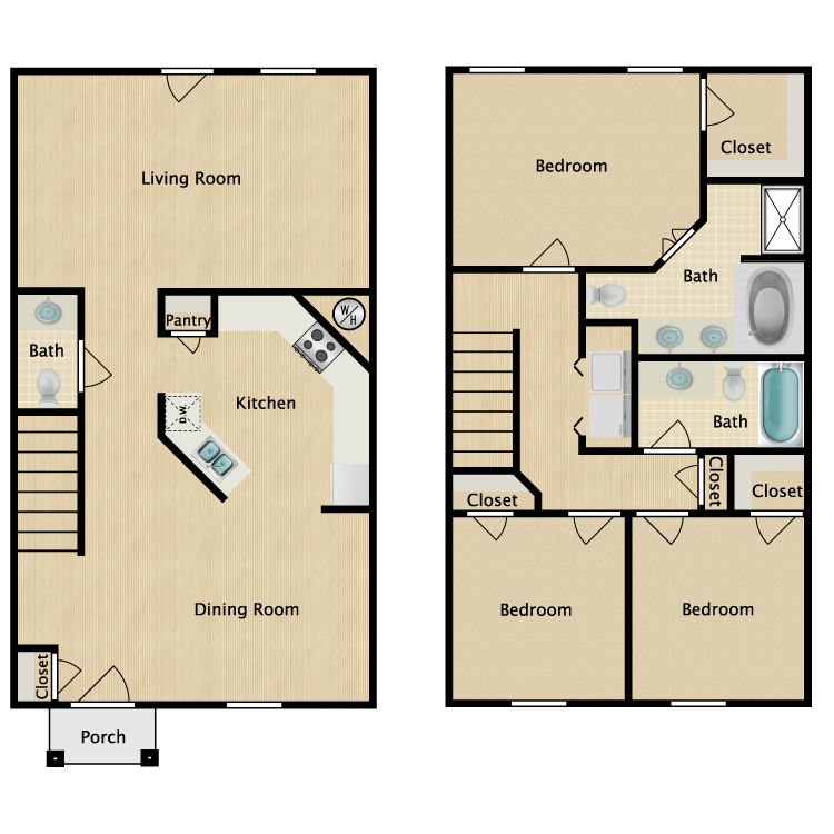 Floor plan image of Hunter