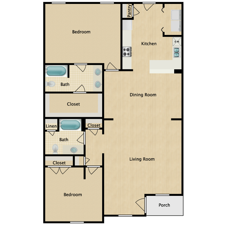 Floor plan image of Reagan