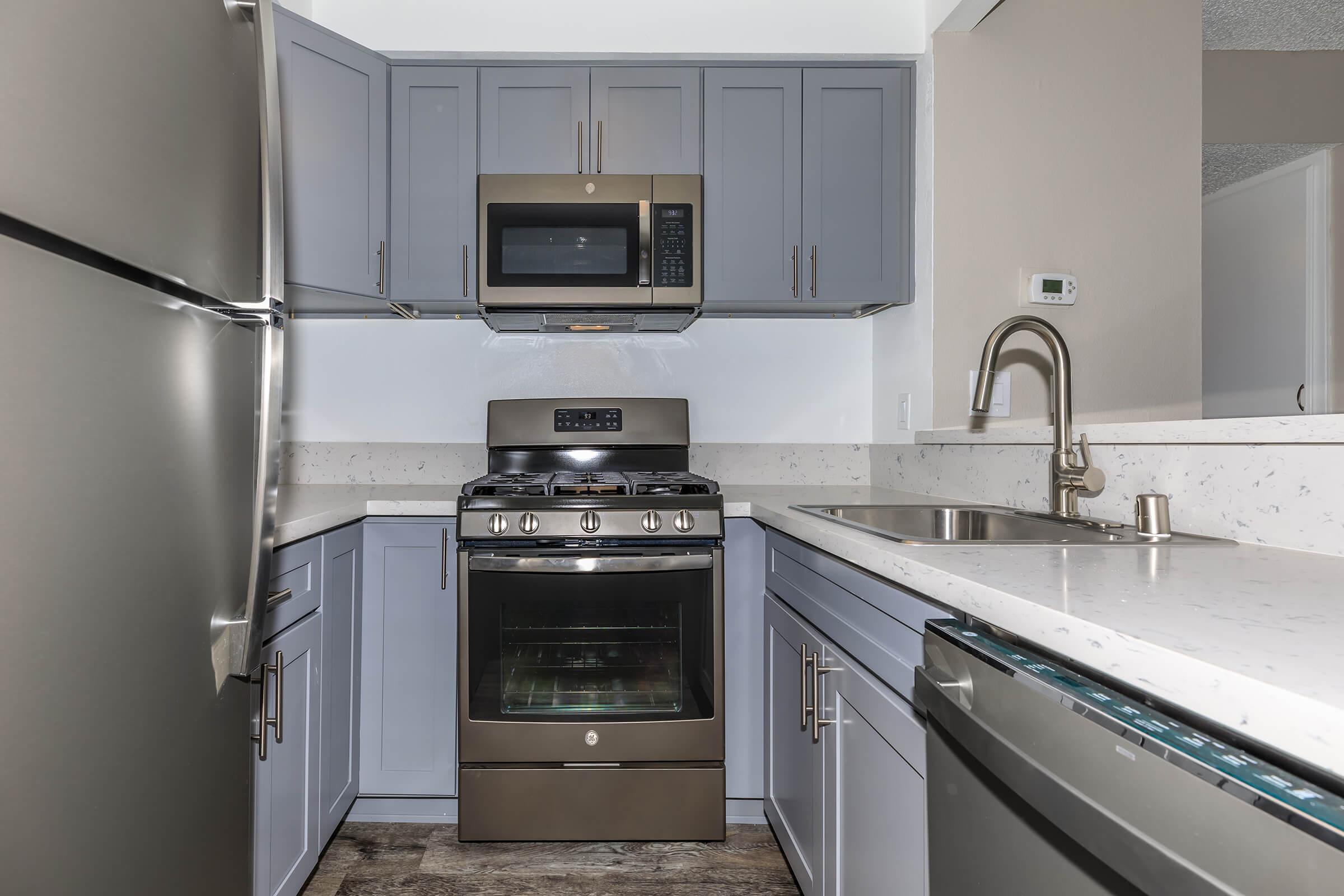 Kitchen at Copper Wood  Apartments in Chino, CA