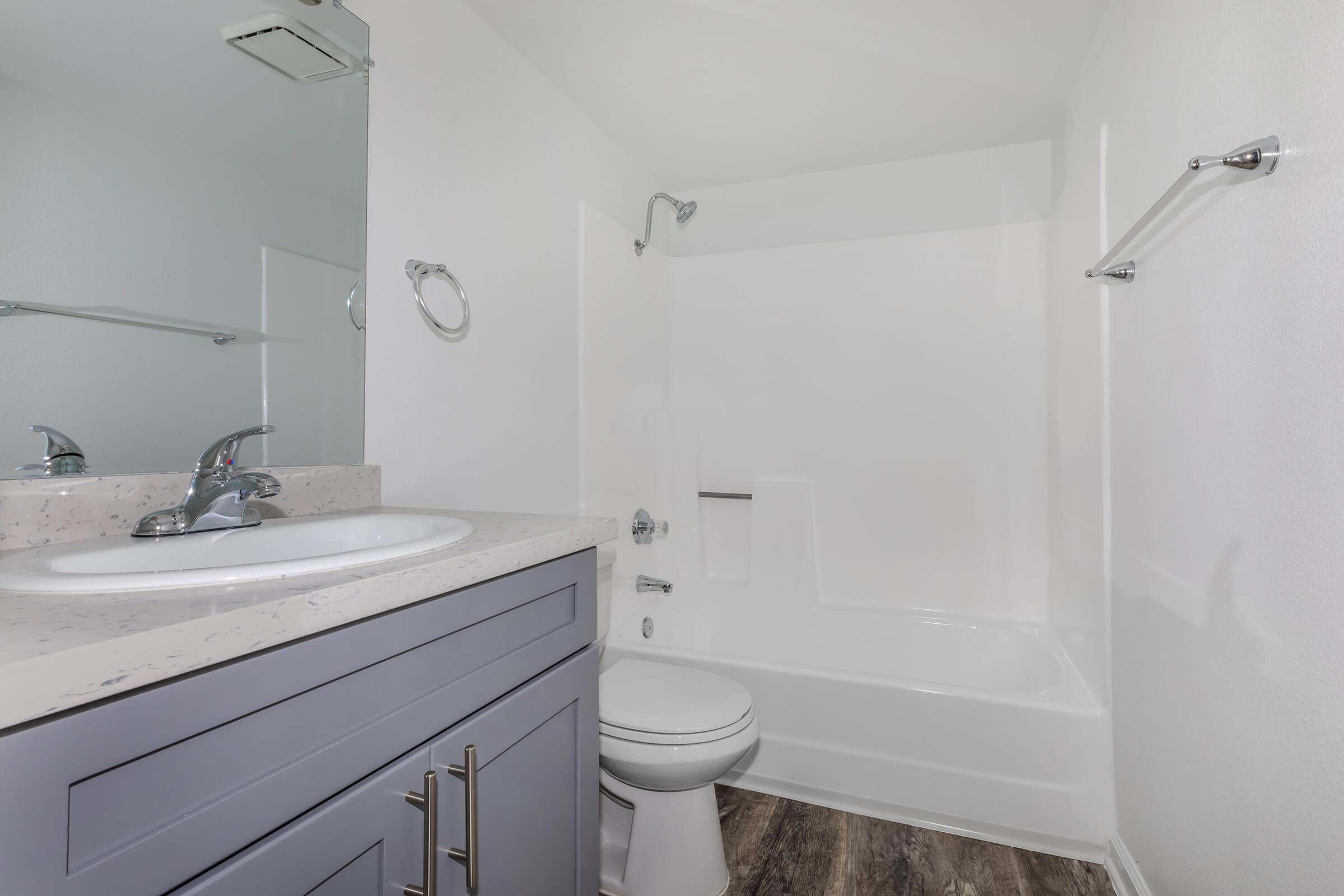 Bathroom at Copper Wood  Apartments in Chino, CA
