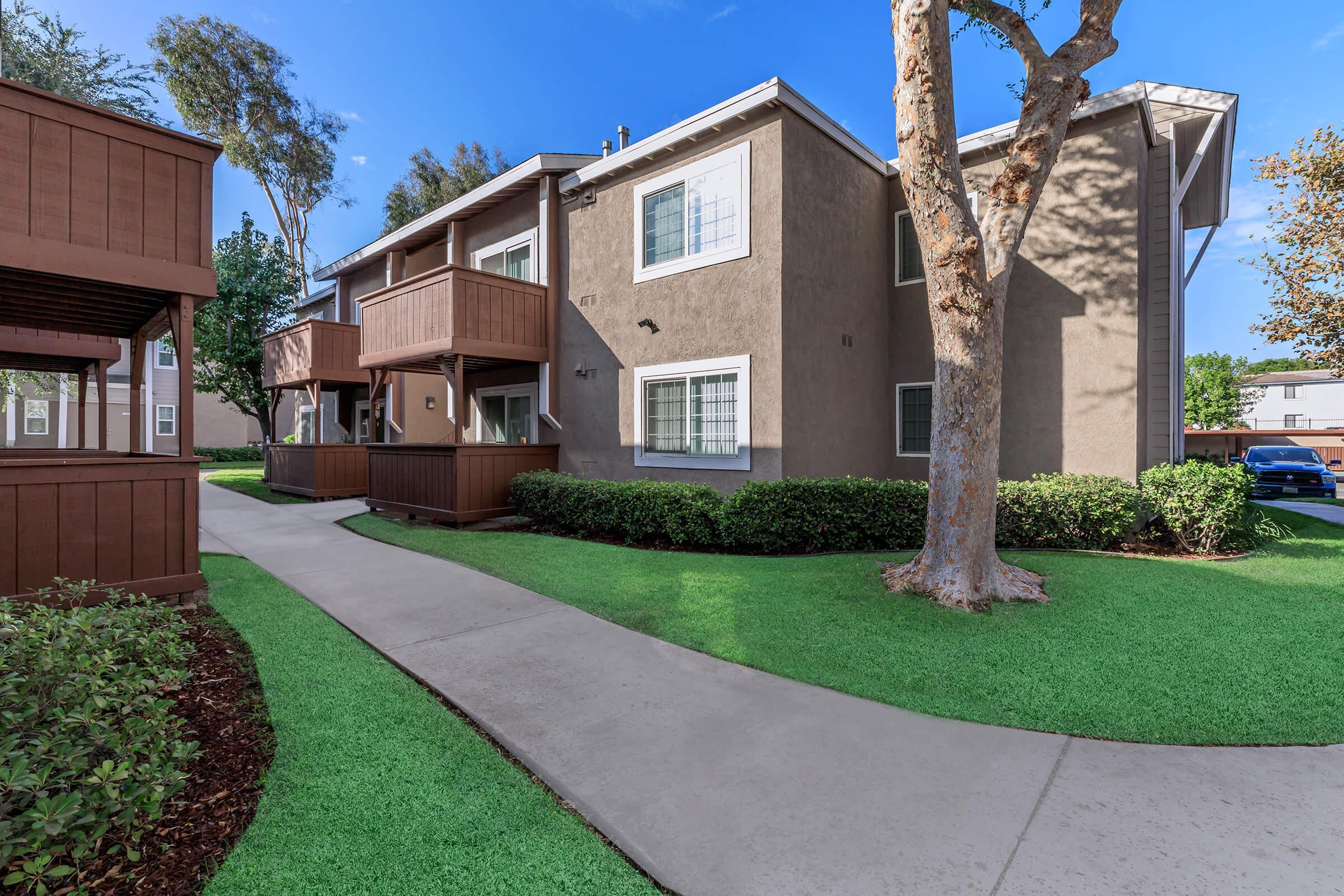 Landscape at Copper Wood  Apartments in Chino, CA