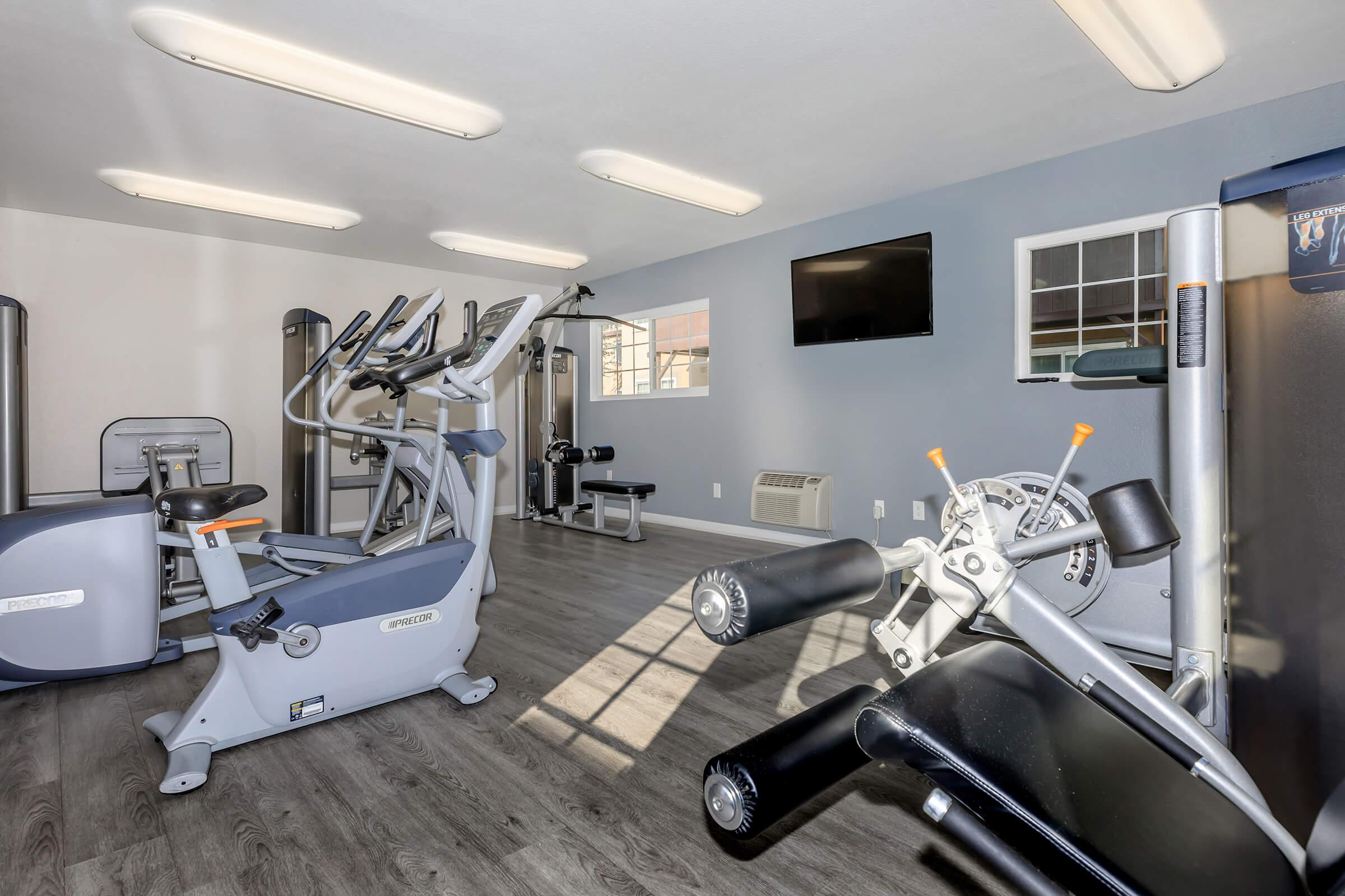Fitness Center at Copper Wood  Apartments in Chino, CA